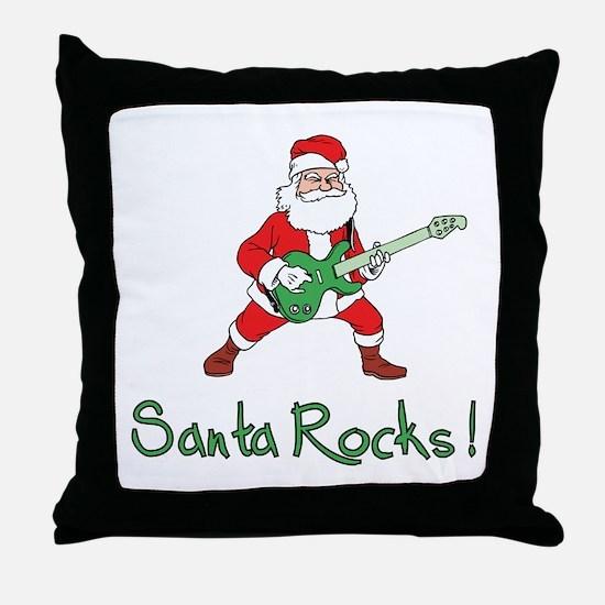 Santa Rocks! Throw Pillow