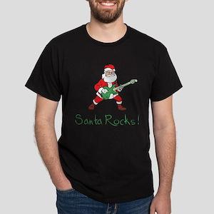 Santa Rocks! Dark T-Shirt