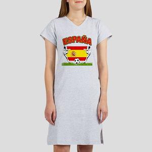 Spainish Soccer Women's Nightshirt