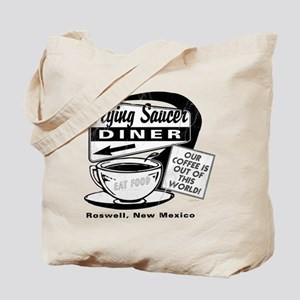 Flying Saucer Diner Tote Bag