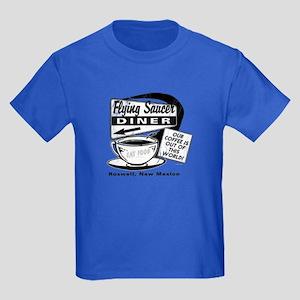 Flying Saucer Diner Kids Dark T-Shirt