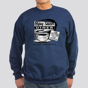Flying Saucer Diner Sweatshirt (dark)
