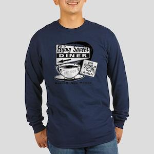 Flying Saucer Diner Long Sleeve Dark T-Shirt