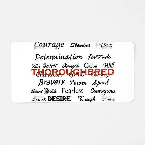 Cute Thoroughbred Aluminum License Plate
