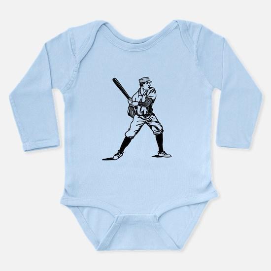 1890's Baseball Batter Long Sleeve Infant Bodysuit