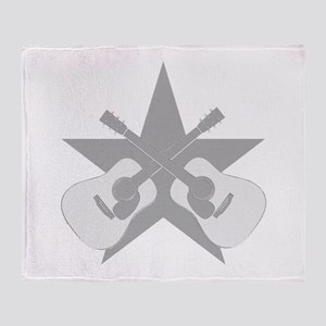 ACOUSTIC GUITARS STAR Throw Blanket