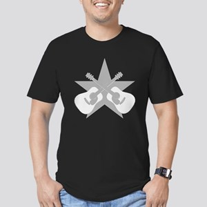 ACOUSTIC GUITARS STAR Men's Fitted T-Shirt (dark)