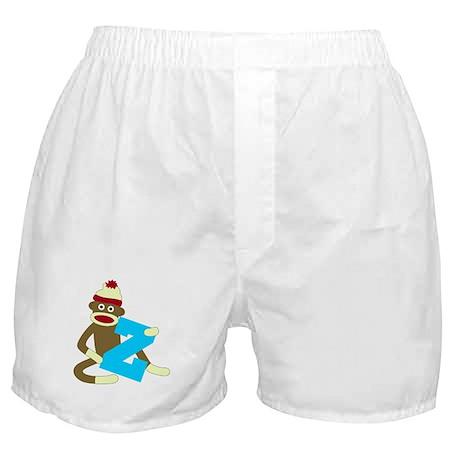 Sock Monkey Monogram Boy Z Boxer Shorts
