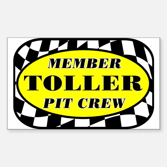 Toller PIT CREW Sticker (Rectangle)