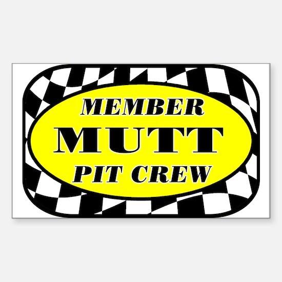 Mutt PIT CREW Sticker (Rectangle)
