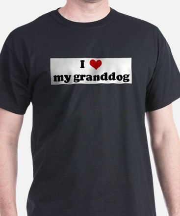 I Love my granddog Ash Grey T-Shirt