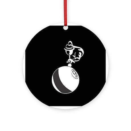9-Ball Billiards Ornament (Round)