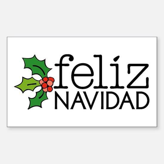 Feliz Navidad Sticker (Rectangle)