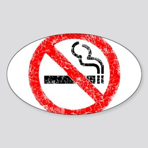 Distressed, No Smoking Sticker (Oval)