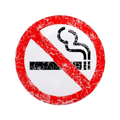 "Distressed, No Smoking 3.5"" Button"