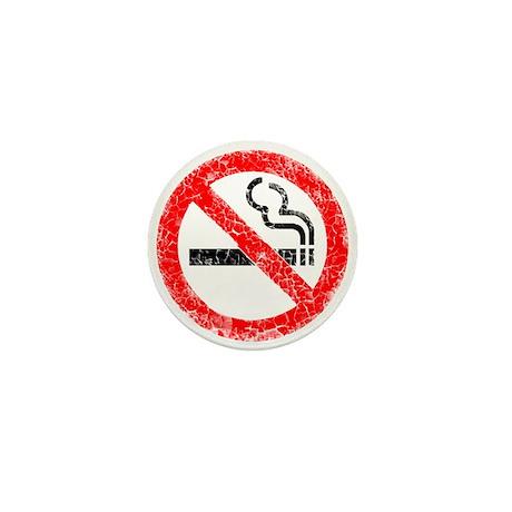Distressed, No Smoking Mini Button