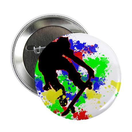 """Graffiti Paint Splotches Skat 2.25"""" Button"""