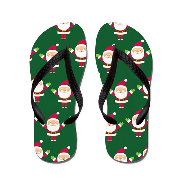Christmas Santa Flip Flops by cuteflipflops