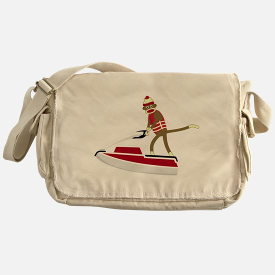 Sock Monkey Jet Ski Messenger Bag