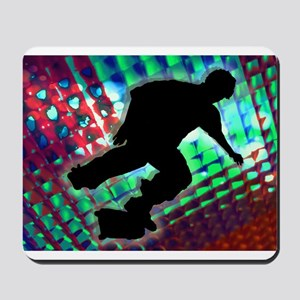 Red Green Blue Abstract Boxe Mousepad