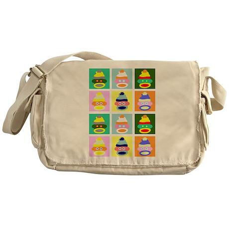 Pop Art Sock Monkey Messenger Bag