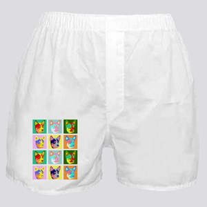 Cattle Dog Pop Art Boxer Shorts