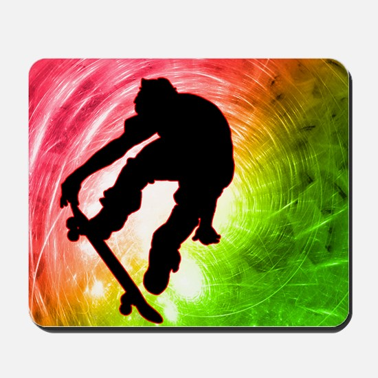Skateboarder in a Psychedelic Mousepad