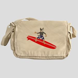 Cattle Dog Surfer Messenger Bag