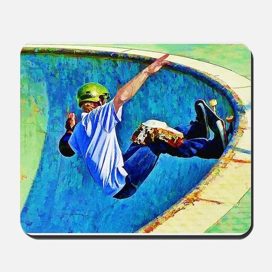 Skateboarding in the Bowl Mousepad