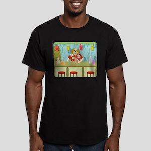 Shih Tzu Tiki Bar Men's Fitted T-Shirt (dark)