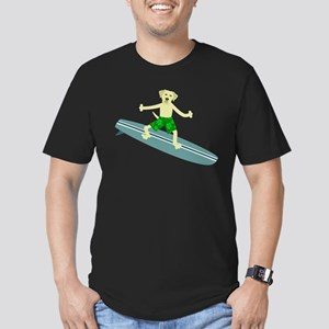 Yellow Lab Surfer Men's Fitted T-Shirt (dark)