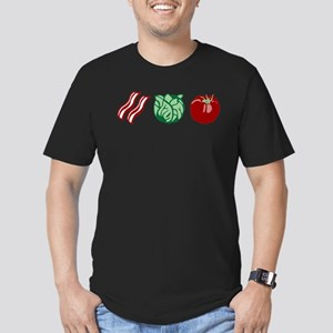 Bacon Lettuce Tomato Men's Fitted T-Shirt (dark)