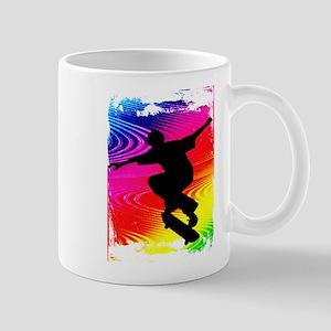 Rainbow Grunge Skateboarder Mug