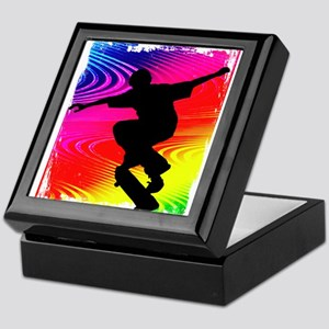 Rainbow Grunge Skateboarder Keepsake Box