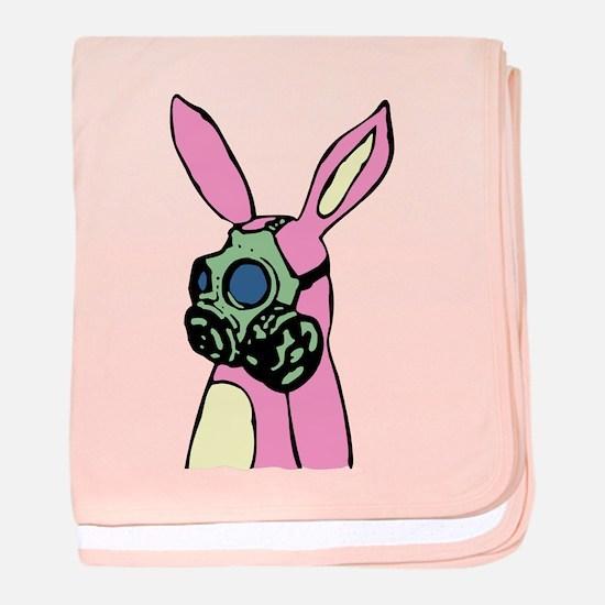 Pink Bunny Gas Mask baby blanket