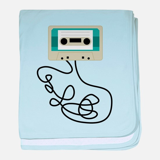 Cassette Tape Loops baby blanket