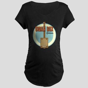 Cigar Box Guitar Maternity Dark T-Shirt