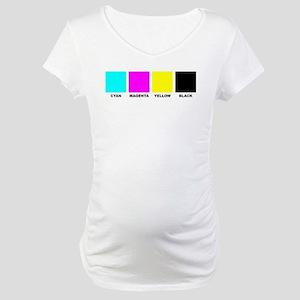 CMYK Four Color Maternity T-Shirt