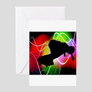 Electric Spectrum Skateboarde Greeting Card