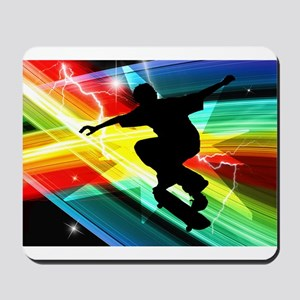 Skateboarder in Criss Cross L Mousepad