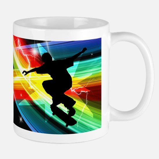 Skateboarder in Criss Cross L Mug