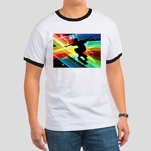 Skateboarder in Criss Cross L Ringer T
