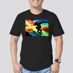 Skateboarder in Criss Cross L Men's Fitted T-Shirt
