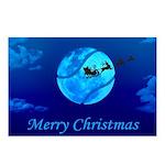 Santa Moon Postcards (package Of 8)