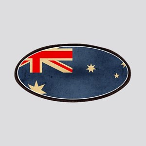 Grunge Australian Flag Patches
