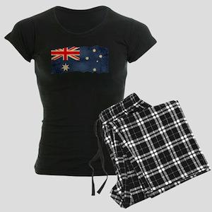 Grunge Australian Flag Women's Dark Pajamas