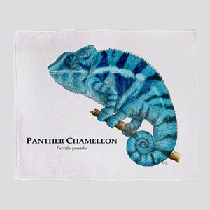 Panther Chameleon Throw Blanket