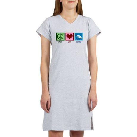 Peace Love Surfing Women's Nightshirt