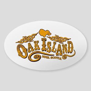 Oak Island Saloon Sticker (Oval)