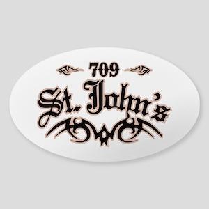 St. Johns 709 Sticker (Oval)